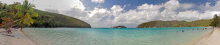 Maho Bay Beach panorama