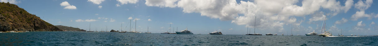 St. Barths Anchorage Panorama