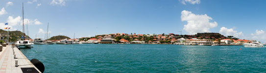 Gustavia Port Panorama