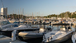 Marina Bas du Fort docks
