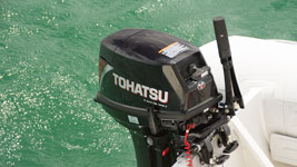 New Tohatsu 18HP mounted