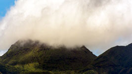 Clouds in the hills of Basse Terre