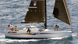 Hot Ticket finishing Guadeloupe to Antigua Race