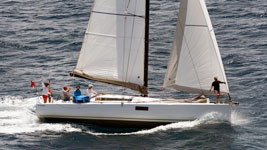 MacPAt finishing Guadeloupe to Antigua Race