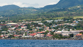 Basseterre on Guadeloupe