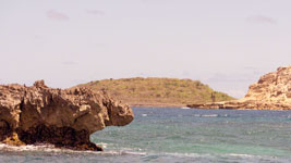 Rocky promontory at Green Island