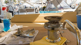 Windlass repair in Guadeloupe