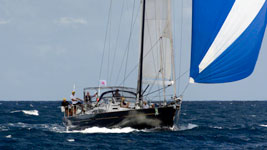Mustique sailing downwind
