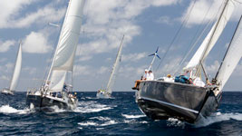 Blue Fin and Mustique fighting for position