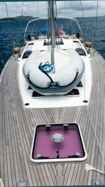 Dinghy on deck