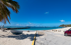Spanish Town beach panorama
