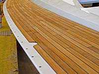 Teak deck construction