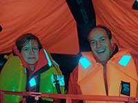 ISAF Course - in the liferaft