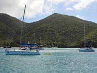 Mahoe Bay anchored boats