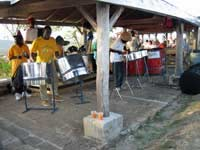 Shirley Heights steel drum band