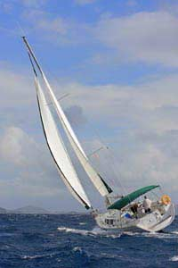 Solitaire heeled in the BVI