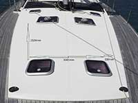 Zanshin foredeck solar panel space